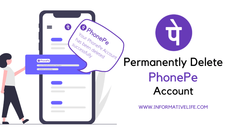 how to delete phonepe account peramently