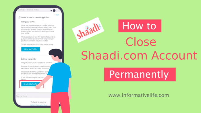 close shaadi.com account