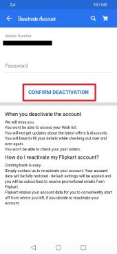 Delete Flipkart
