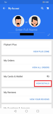 remove bank account details flipkart